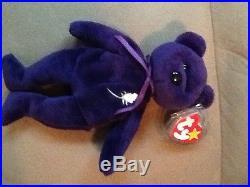Rare 1997 Ty Princess Diana Beanie Baby 1st Edition Mwmt Pvc/china/no Space Vhtf
