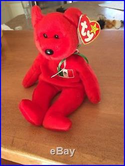 RARE 1999 Osito Bear Mexico ORIGINAL TY Beanie Baby No Stamp