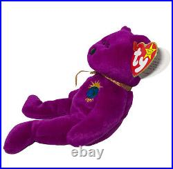 RARE 1999 Retired TY Beanie Baby MILLENIUM the Bear with multiple errors, Mint