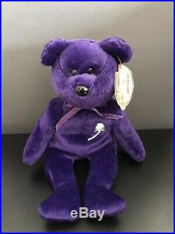 RARE 1ST EDITION TY PRINCESS DIANA BEANIE BABY NO SPACE Made In Indonesia