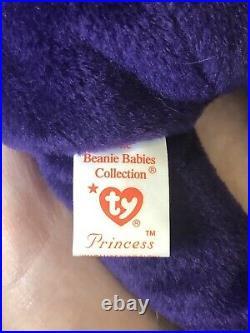 RARE 1st EDITION Princess Diana Beanie Baby with Tag Errors READ DESCRIPTION