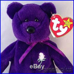 903980d6184 RARE 1st Edition AUTHENTIC Princess Diana TY Beanie Babies PVC Pellets 97  CHINA