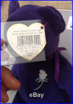 RARE Authentic 1st Edition Princess Diana 1997 Retired Beanie Baby