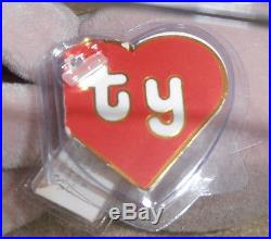 RARE! Authenticated TY 2nd gen Tan Inky without a Mouth Beanie Baby