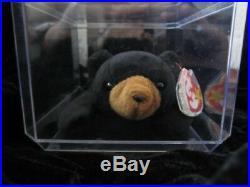 RARE BLACKIE the BEAR Ty Beanie Baby Error1993 /1994 PVCAs seen on MSN