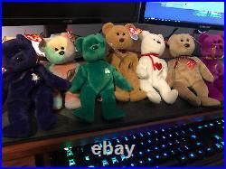 RARE Beanie Baby Bears -Valentino, Princess, Millenium, Peace and MORE/ERRORS