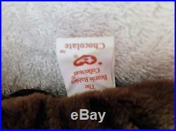 RARE Chocolate the Moose ORIGINAL Beanie Baby 1993 withP. E. Pellets