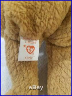 RARE Curly Beanie Baby 22 Defects