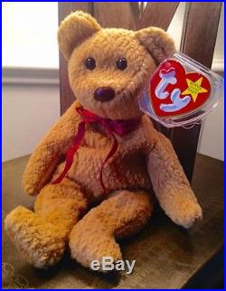 e6c93c51240 RARE Curly Bear 1996 TY Beanie Baby with Tag Errors