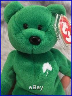 RARE Erin the St Patrick's Day Bear Ty Beanie Baby Errors and Rarities