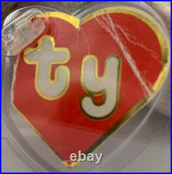 RARE! Hard to Find Authenticated TY 2nd gen Tan Inky With a Mouth Beanie Baby
