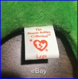 RARE LEGS TY BEANIE BABY RETIRED WITH ERRORS STYLE 4020 Collectors edition