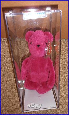 a3428b411b4 Authenticated TY 2nd gen OLD FACE MAGENTA TEDDY Beanie Baby