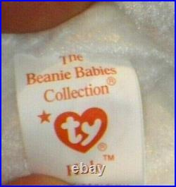 RARE New Vintage Halo The Bear Ty Beanie Baby With Tag Errors Brown Nose 1998
