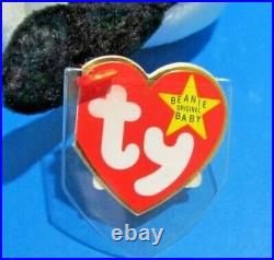 RARE Original Nine 1993 SPOT the Dog with ERRORS Ty Beanie Baby STYLE #4000