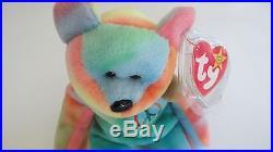 RARE Peace Beanie baby Rainbow Colors TY