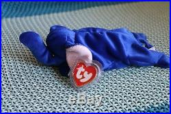 RARE Peanut the Royal Blue Elephant Beanie Baby  f37f9ddb8842