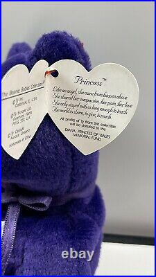 RARE Princess Diana First edition WithTag Cover -Ty Beanie Baby 1997 MINT