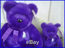 RARE Princess Diana Ty Beanie Baby Buddy Lot Retired 1997 Mint Purple Beany