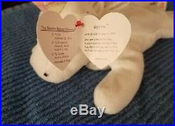 RARE RETIRED Mystic BEANIE BABY WITH IRIDESCENT HORN AND ERRORS