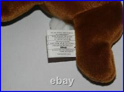 RARE RETIRED ORIGINAL TY EARS BEANIE BABY with 2 TUSH TAGS PVC PELLETS ERRORS
