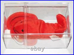RARE RETIRED TY BEANIE BABY PINCHERS LOBSTER with 2 TUSH TAGS PVC PELLETS ERRORS