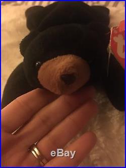 RARE&RETIRED TY beanie baby ORIGINAL Blackie -multiple tag errors, popular item