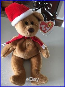 RARE! RETIRED! Ty Beanie Baby 1997 Holiday Teddy Bear 1996- Style# 4200 MINT