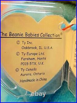 RARE Retired TY Beanie Baby Iggy The Iguana Born August 12, 1997