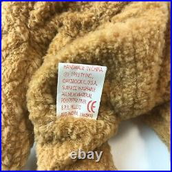 RARE Retired Ty Beanie Baby CURLY Bear with MANY ERRORS