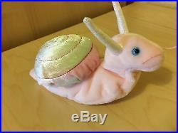 RARE Swirly! The Snail! TY Beanie Baby