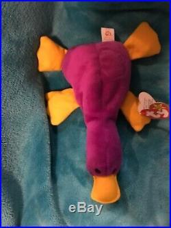 RARE TY BEANIE BABY ORIGINAL 1993 PATTI THE PLATYPUS PVC Style 4025