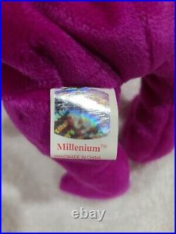 RARE TY Beanie Babies Millennium/Millenium Bear 2 errors- RETIRED, Near Mint