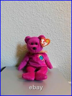 RARE TY Beanie Baby 1st Release MILLENIUM the Bear with ALL Spelling Errors