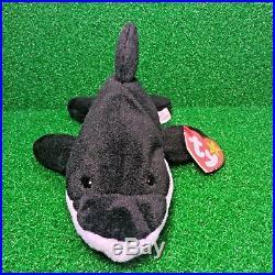 RARE TY Beanie Baby Splash The Whale PVC Plush 1993 RETIRED Original 9 MWMT