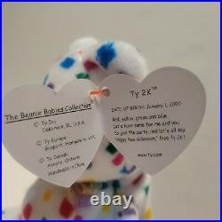 RARE TY Beanie Baby TY 2K the bear w errors. Mint. Retired