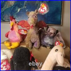 RARE TY Beanie Baby lot of 18! 1993-1999 All P. V. C. Pellets. Errors! Mint Babies