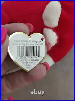 RARE TY Beanie Baby red Snort the Bull ALL 14 tag errors (last picture)