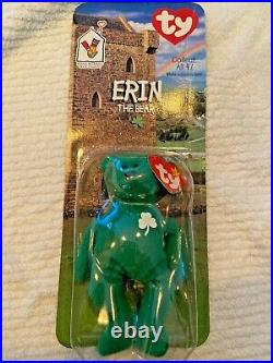 RARE TY Erin The Bear McDonalds Teenie Beanie Baby 1997 WITH ERRORS