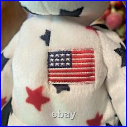 RARE TY GLORY Beanie Baby with Numbered Tush Tag & Tag Errors Mint Uncirculated