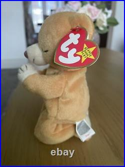 RARE Ty Beanie Babies Hope Bear Excellent Cond- Very Rare Tag Errors