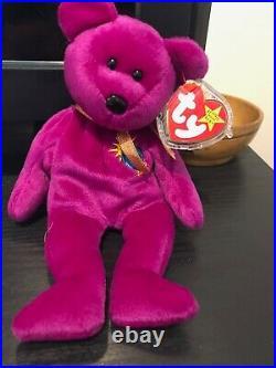 RARE Ty Beanie Babies Millennium Bear Retired