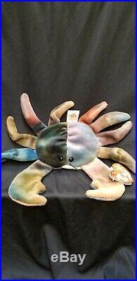 RARE Ty Beanie Baby 1996 Claude the Crab