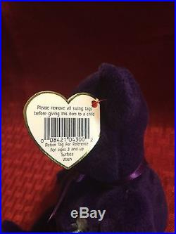 RARE Ty Beanie Baby Princess Diana 1st Edition/PVC/ NO Space/ From Canada