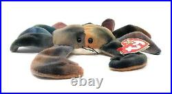 RARE Ty Beanie babies Retired CLAUDE The Crab with ALL CAPS Tag Errors 1996 OG