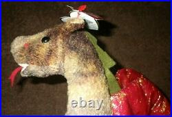 RARE Ty Europe Scorch the Dragon 1998 Beanie Baby- CLEAN, & MINT CONDITION