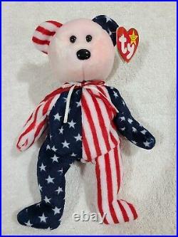 RARE- Ty beanie baby, Pink Face Spangle the bear Errors 1999 near mint, Retire