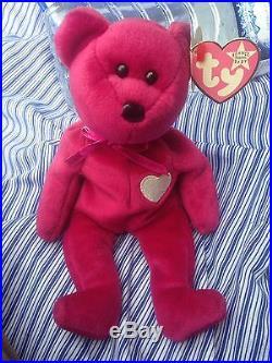RARE Valentina TY Beanie Baby Bear Rare Tag Misspell + year errors 1998