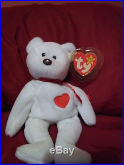 abdc283ad1e RARE Vintage Valentino TY Beanie Baby NWT Misspelled Tag and PVC Pellets