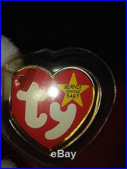 RARE Vintage Valentino TY Beanie Baby NWT Misspelled Tag and PVC Pellets